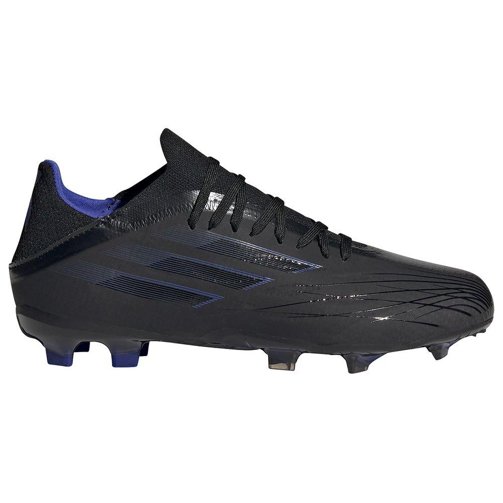 Adidas Chaussures Football X Speedflow.1 Fg EU 35 Core Black / Sonic Ink / Solar Yellow