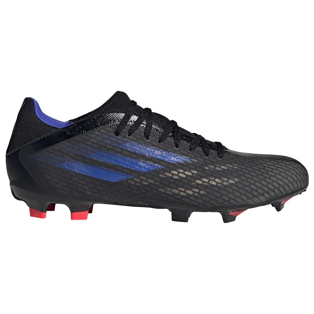 Adidas Chaussures Football X Speedflow.3 Fg EU 42 Core Black / Sonic Ink / Solar Yellow