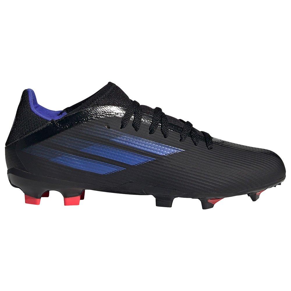 Adidas Chaussures Football X Speedflow.3 Fg EU 32 Core Black / Sonic Ink / Solar Yellow 1