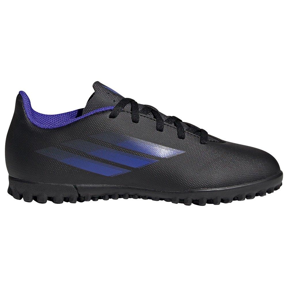 Adidas Chaussures Football X Speedflow.4 Tf EU 31 Core Black / Sonic Ink / Solar Yellow