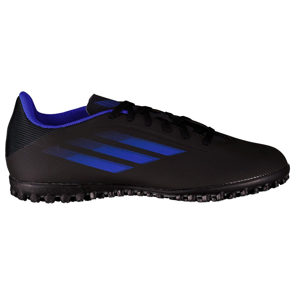 Adidas Chaussures Football X Speedflow.4 Tf EU 46 Core Black / Sonic Ink / Solar Yellow 1