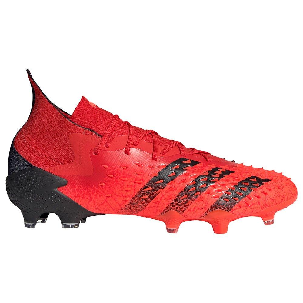 Adidas Chaussures Football Predator Freak.1 Fg EU 45 1/3 Red / Core Black / Solar Red