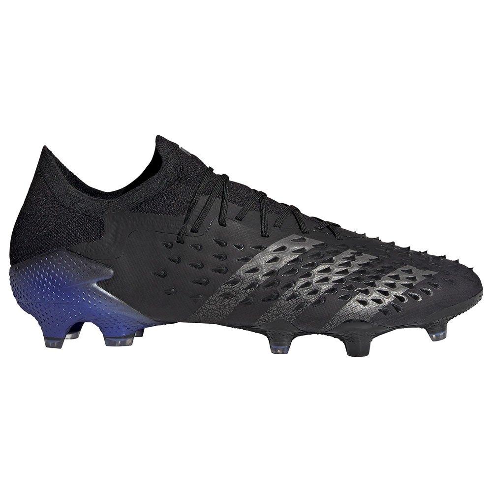 Adidas Chaussures Football Predator Freak.1 L Fg EU 44 Core Black / Iron Metalic / Sonic Ink