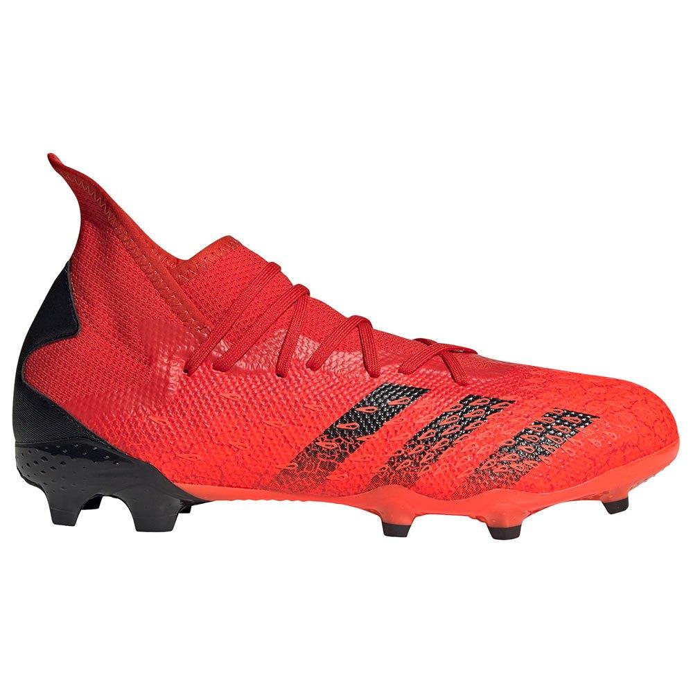Adidas Chaussures Football Predator Freak.3 Fg EU 45 1/3 Red / Core Black / Solar Red