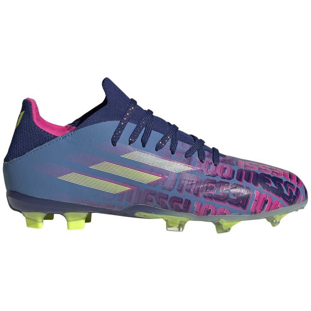 Adidas Chaussures Football X Speedflow Messi.1 Fg EU 34 Victory Blue / Shock Pink / Solar Yellow 1