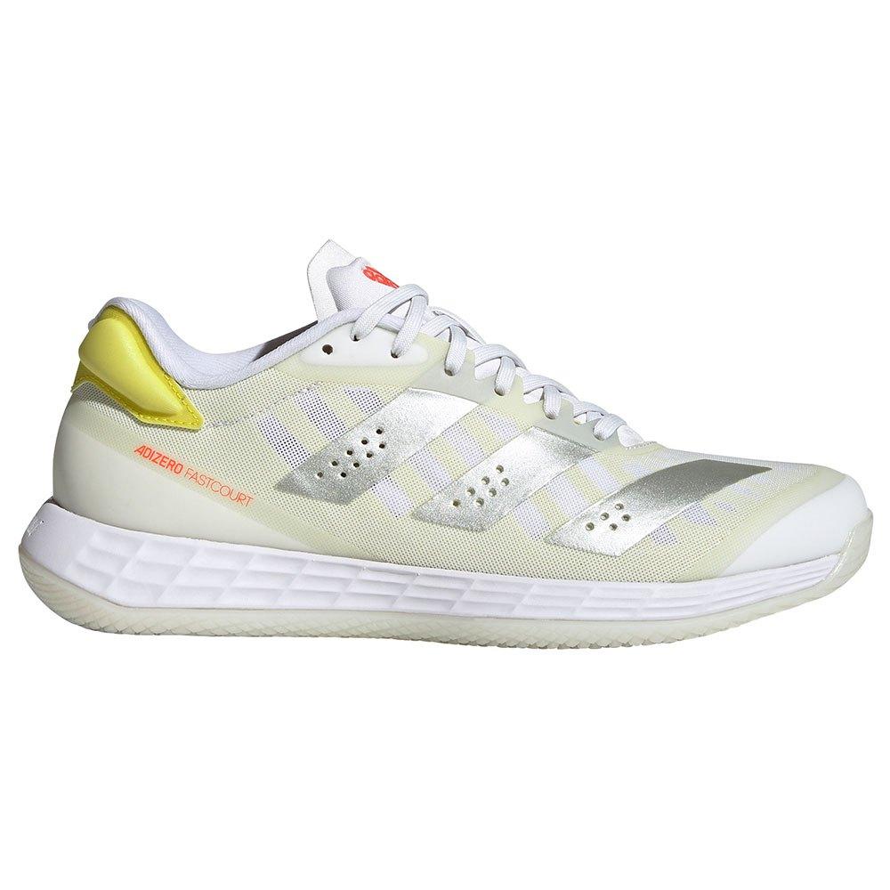 Adidas Badminton Chaussures Indoor Adizero Fastcourt 2.0 EU 38 Ftwr White / Matte Silver / Acid Yellow