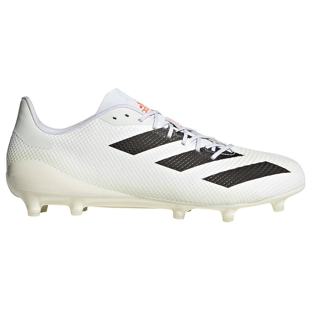 Adidas Chaussures Rugby Adizero Rs7 Fg EU 41 1/3 Ftwr White / Core Black / Solar Red