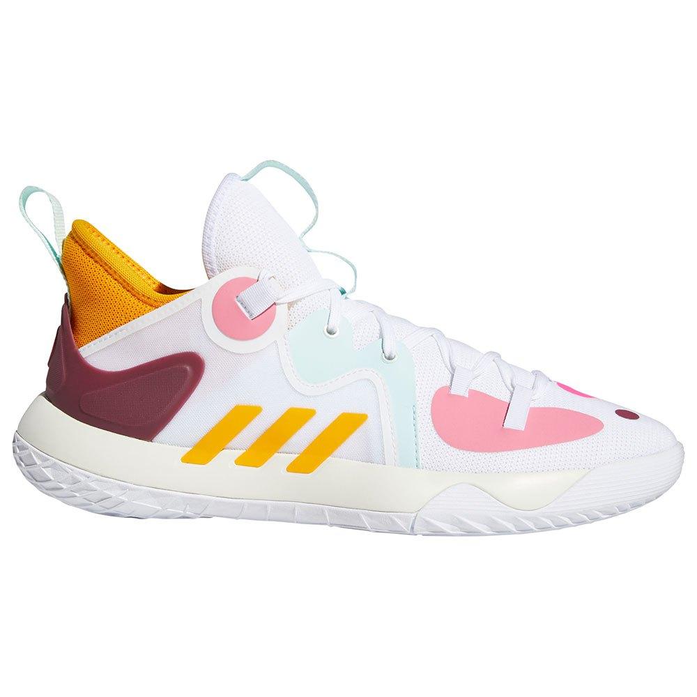Adidas Chaussures Harden Stepback 2 EU 43 1/3 Ftwr White / Semi Solar Gold / Halo Mint