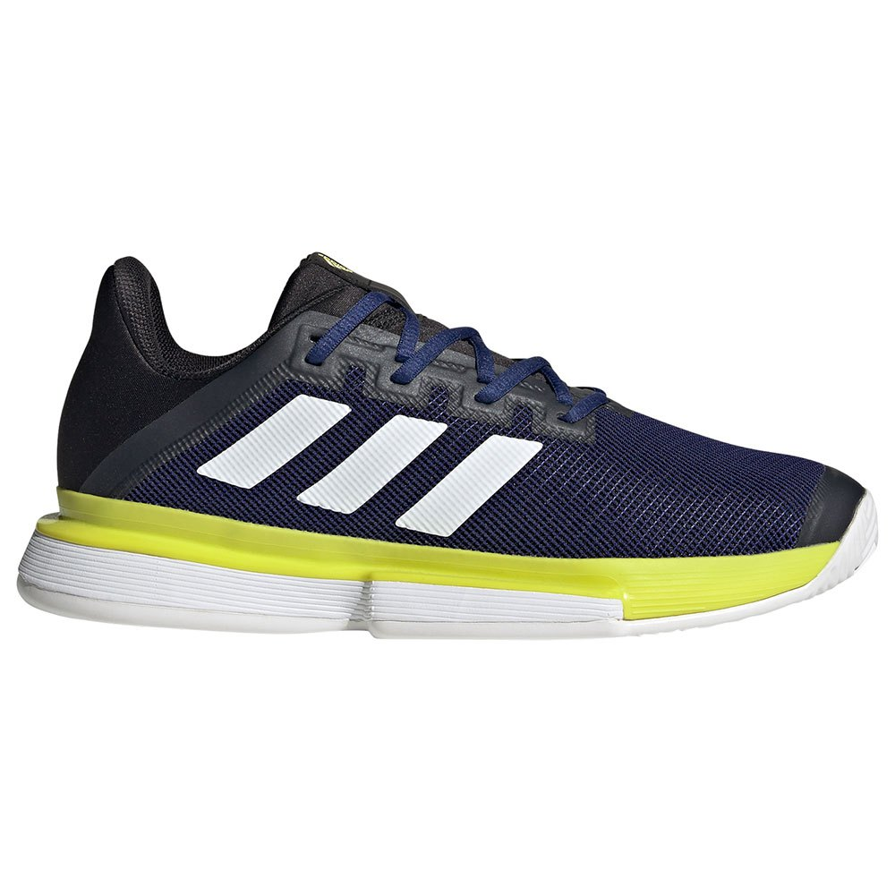 Adidas Chaussures Solematch Bounce EU 44 Victory Blue / Ftwr White / Acid Yellow
