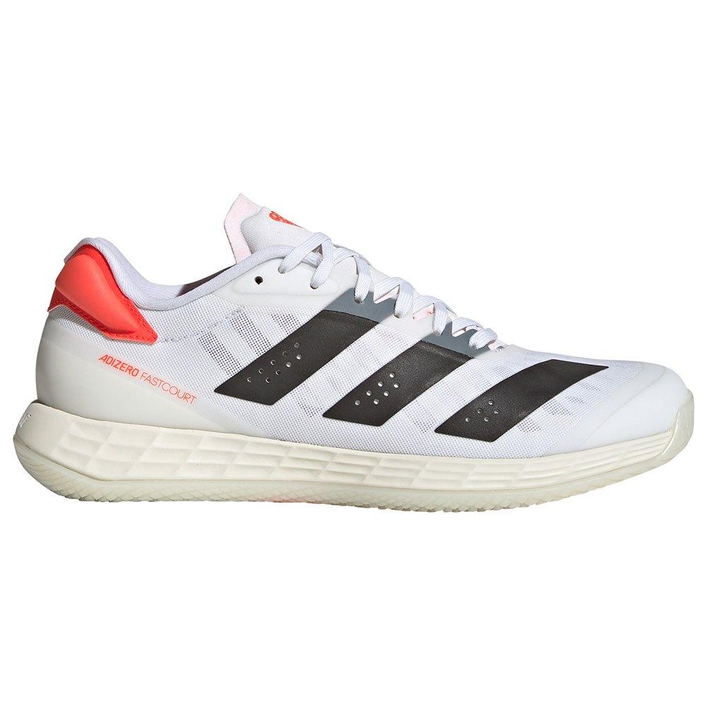 Adidas Badminton Chaussures Indoor Adizero Fastcourt 2.0 EU 40 Ftwr White / Core Black / Solar Red 1
