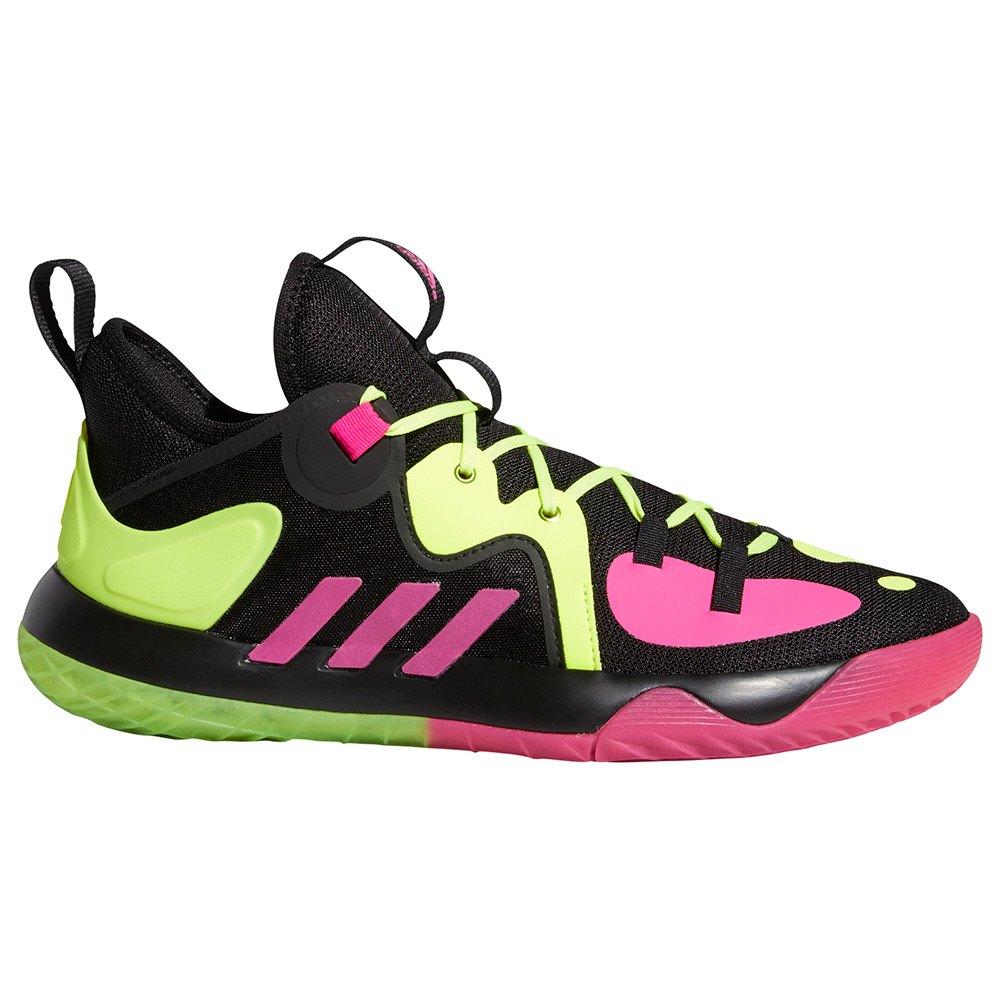 Adidas Chaussure Basket Harden Stepback 2 EU 38 Core Black / Shock Pink / Team Solar Yellow