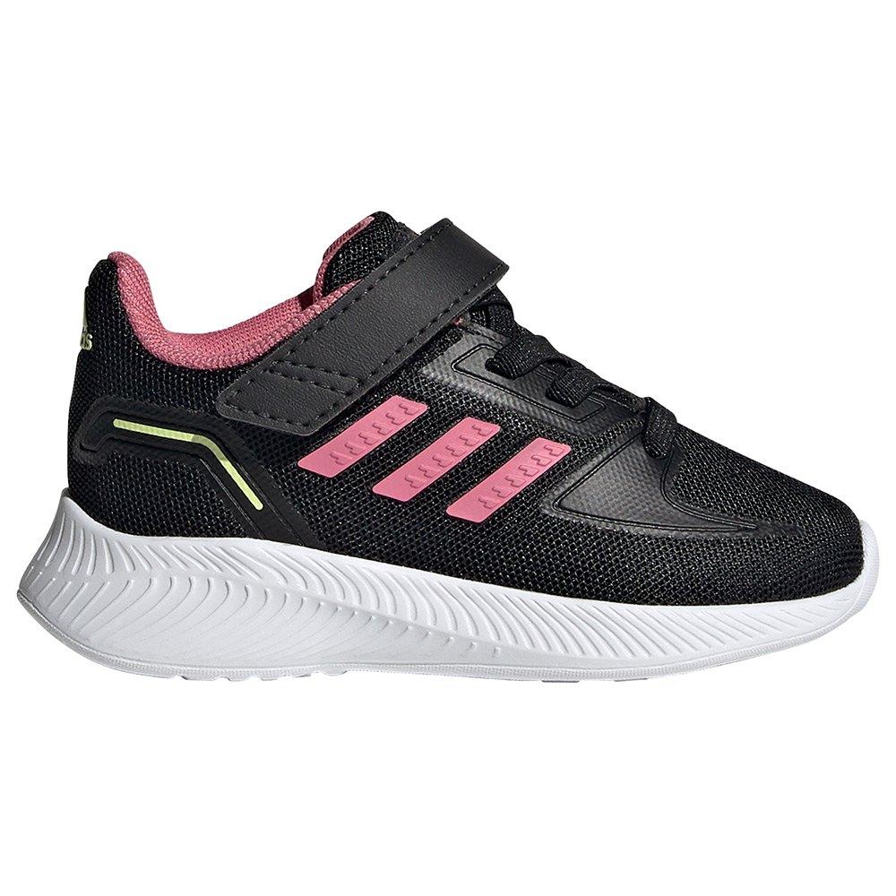 Adidas Zapatillas Velcro Runfalcon 2.0 Infantil Core Black / Rose Tone / Pulse Yellow