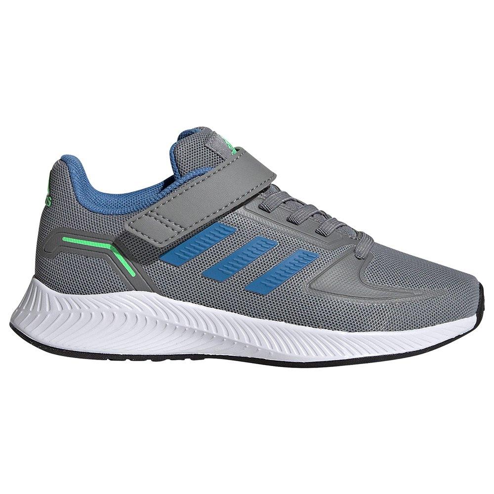 Adidas Zapatillas Velcro Runfalcon 2.0 Chlid Grey Three / Focus Blue / Screaming Green