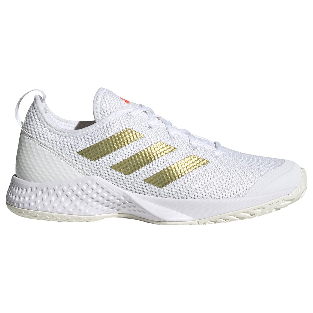 Adidas Chaussures Court Control EU 38 Ftwr White / Gold Metalic / Solar Red