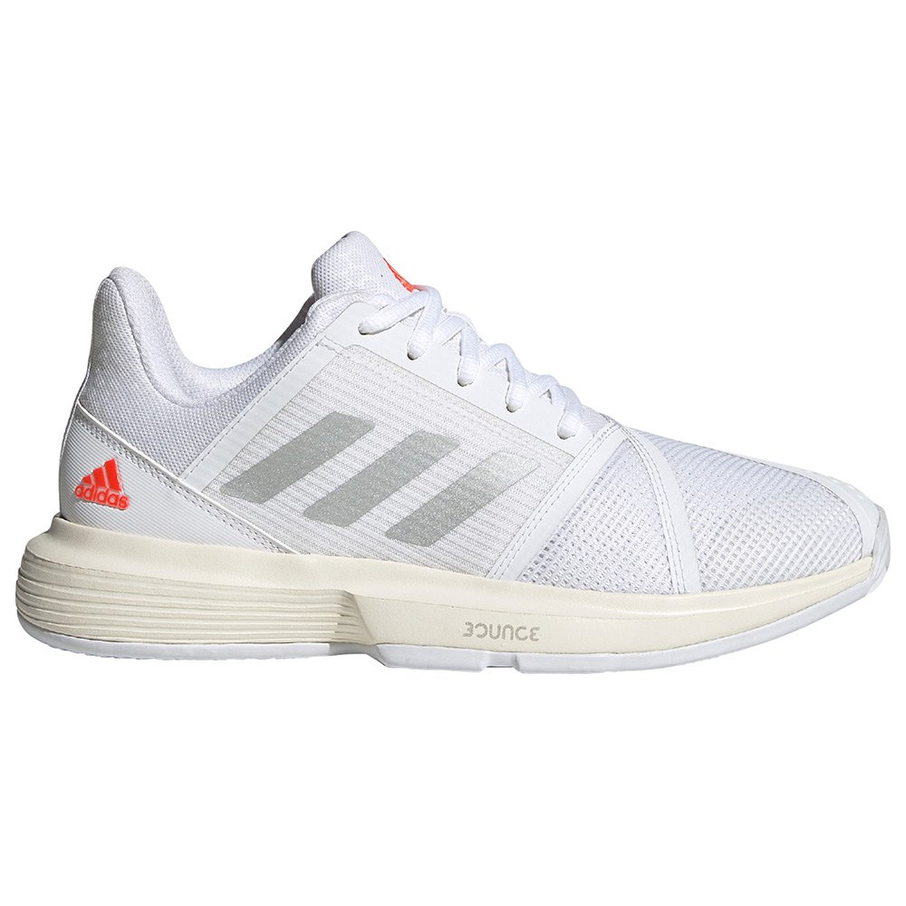 Adidas Chaussures Courtjam Bounce EU 42 Ftwr White / Silver Metalic / Solar Red