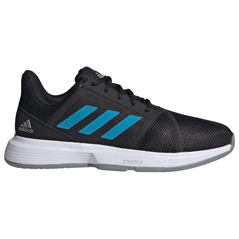 Adidas Chaussures Courtjam Bounce EU 46 Core Black / Sonic Aqua / Ftwr White