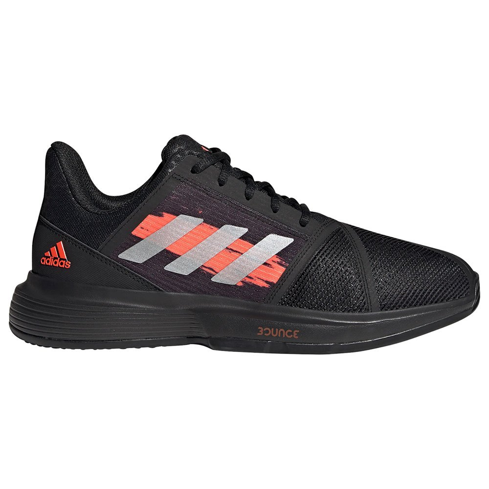 Adidas Zapatillas Tierra Batida Courtjam Bounce EU 40 2/3 Core Black / Silver Metalic / Solar Red