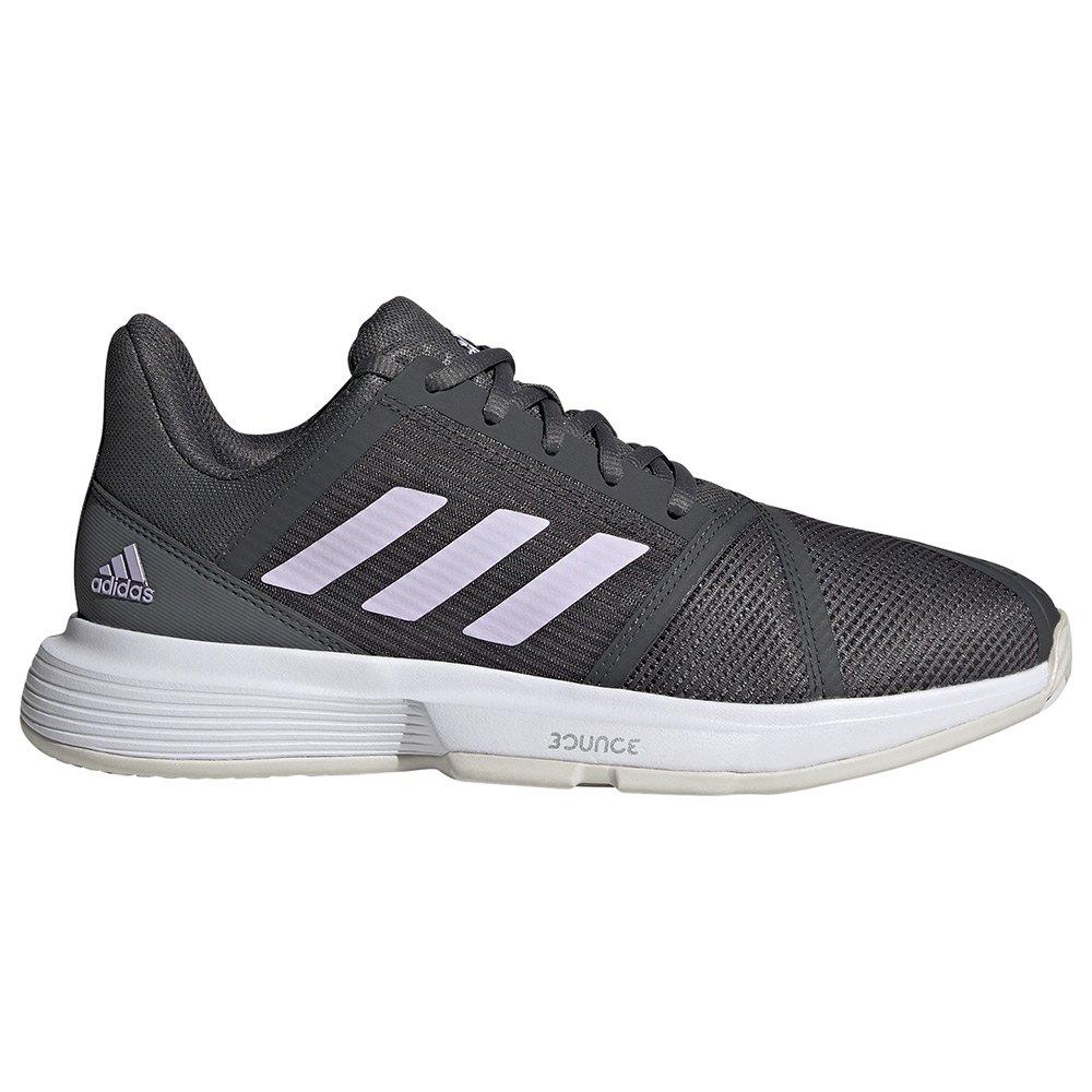 Adidas Chaussures Courtjam Bounce EU 40 Grey Six / Purple Tint / Ftwr White