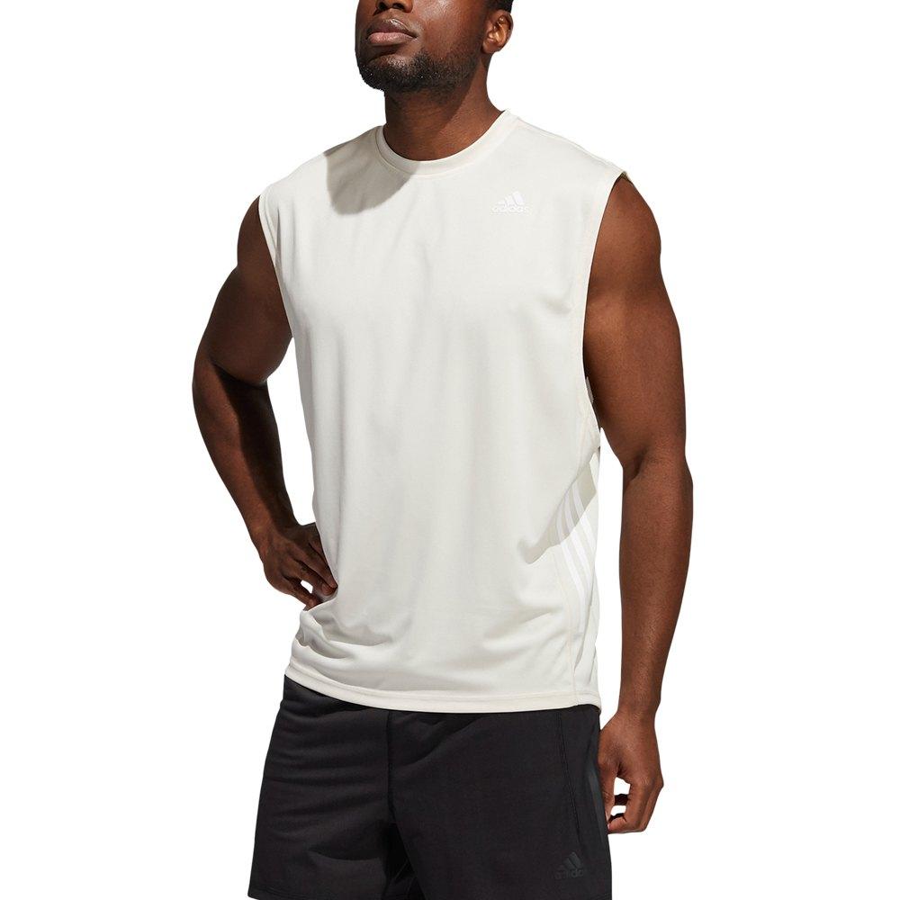 Adidas T-shirt Sans Manches Yoga Muscle M Wonder White
