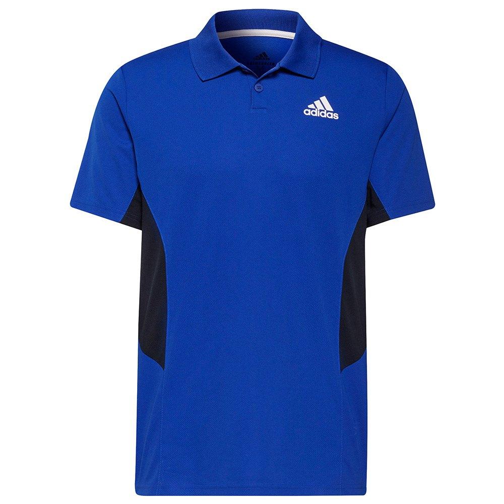 Adidas Polo Pique XL Bold Blue / White