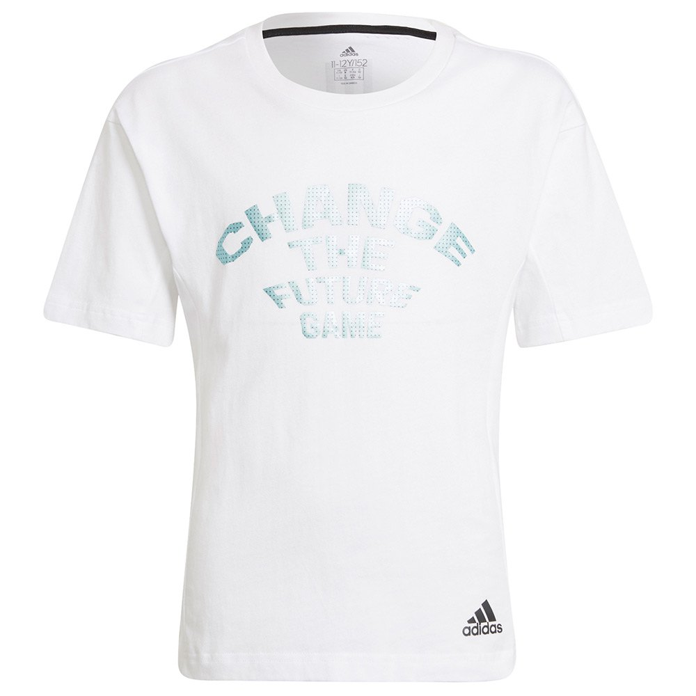 Adidas T-shirt Manche Courte Xfg Co 128 cm White / Black