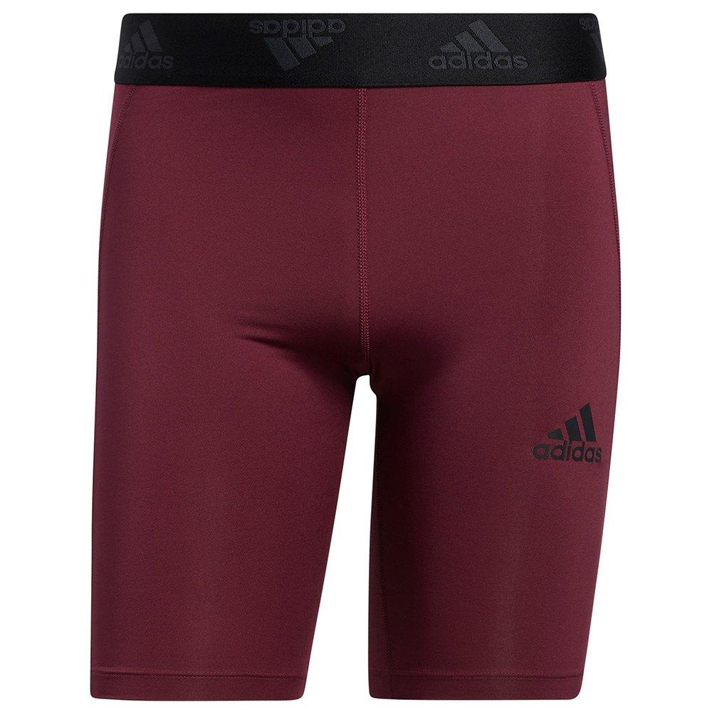 Adidas Maille Courte Tech-fit St 3 Stripes M Victory Crimson
