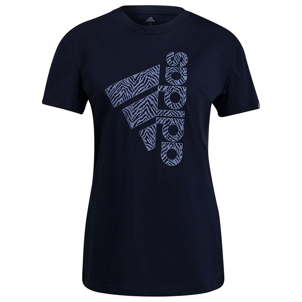 Adidas T-shirt Vertical Zebra Print XXS Legend Ink / Orbit Violet
