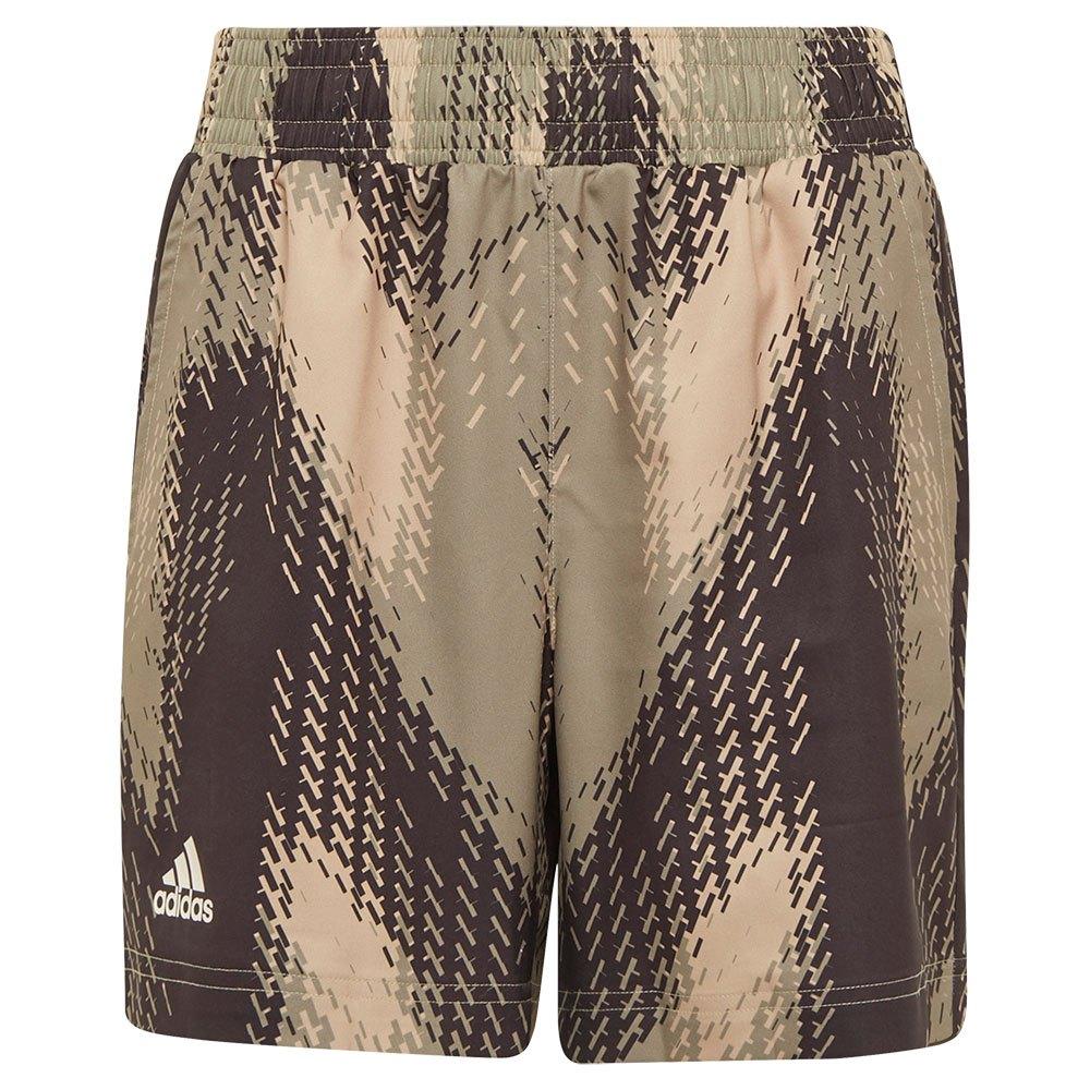 Adidas Les Shorts Printed 140 cm Beige Tone / Black / Focus Olive
