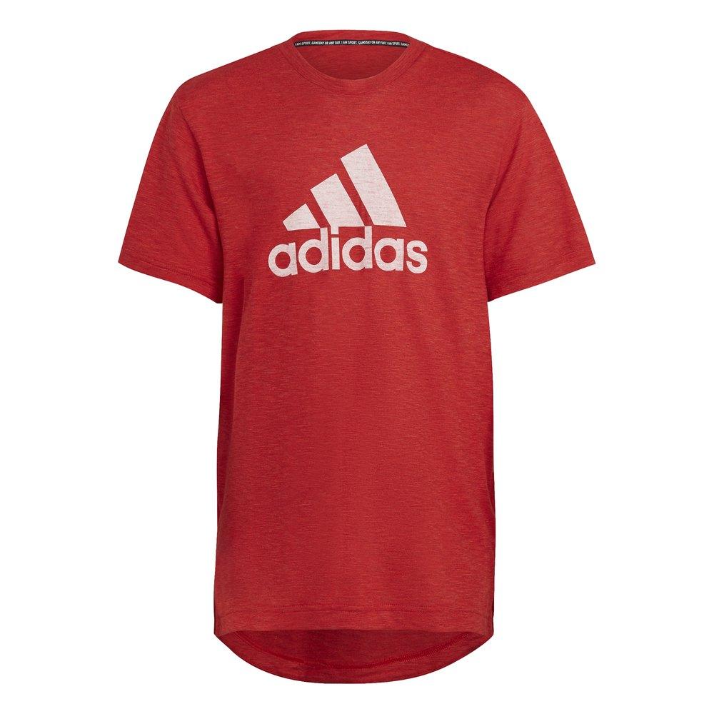 Adidas T-shirt Manche Courte Bos Sum 140 cm Vivid Red Mel / White