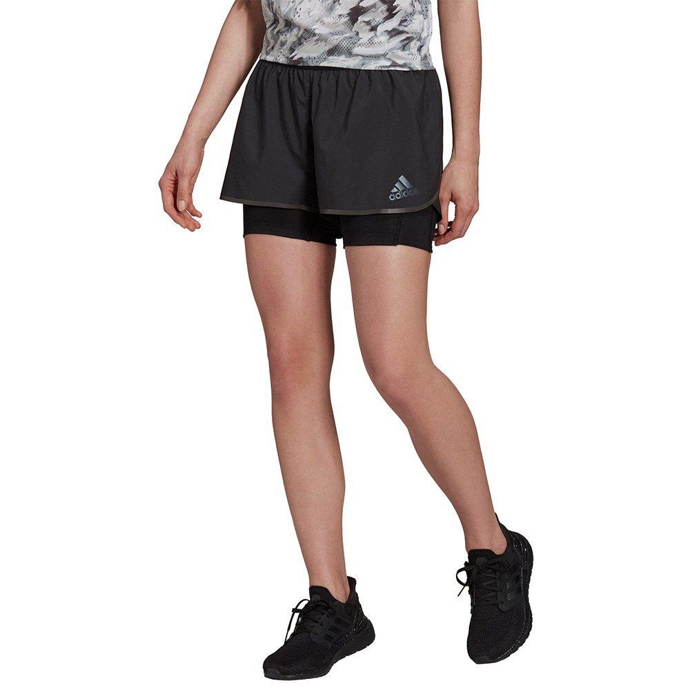 Adidas Pantalones Cortos Adizero 2 In 1 L Black