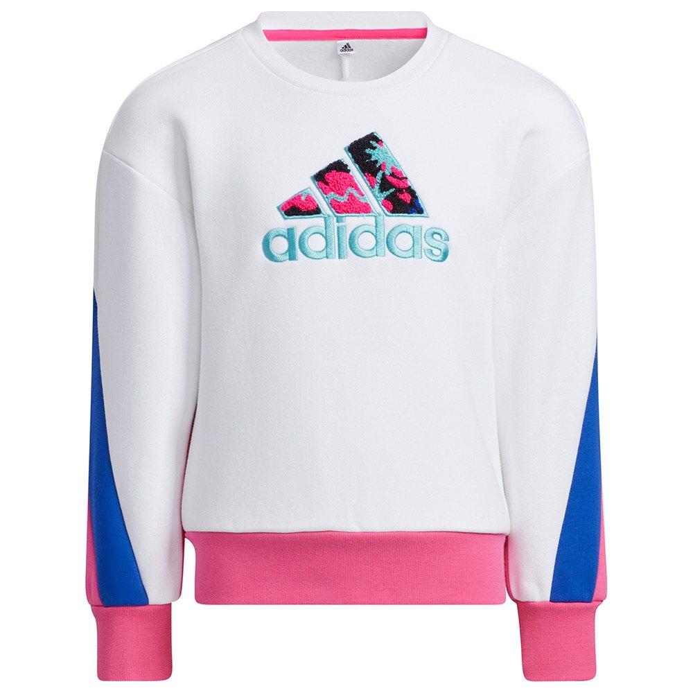 Adidas Sweatshirt Lg Fl 122 cm White / White