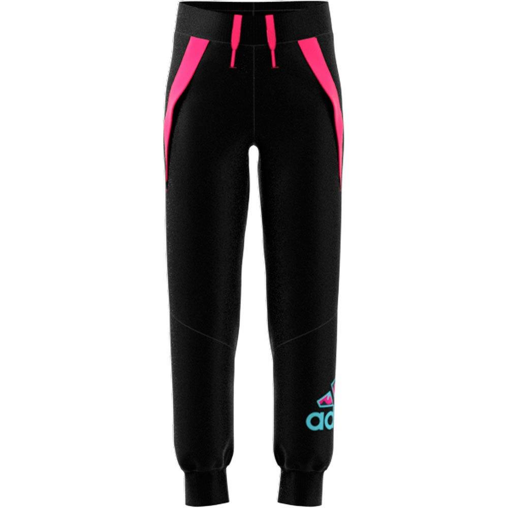 Adidas Pantalons Lg Fl Kn 134 cm Black