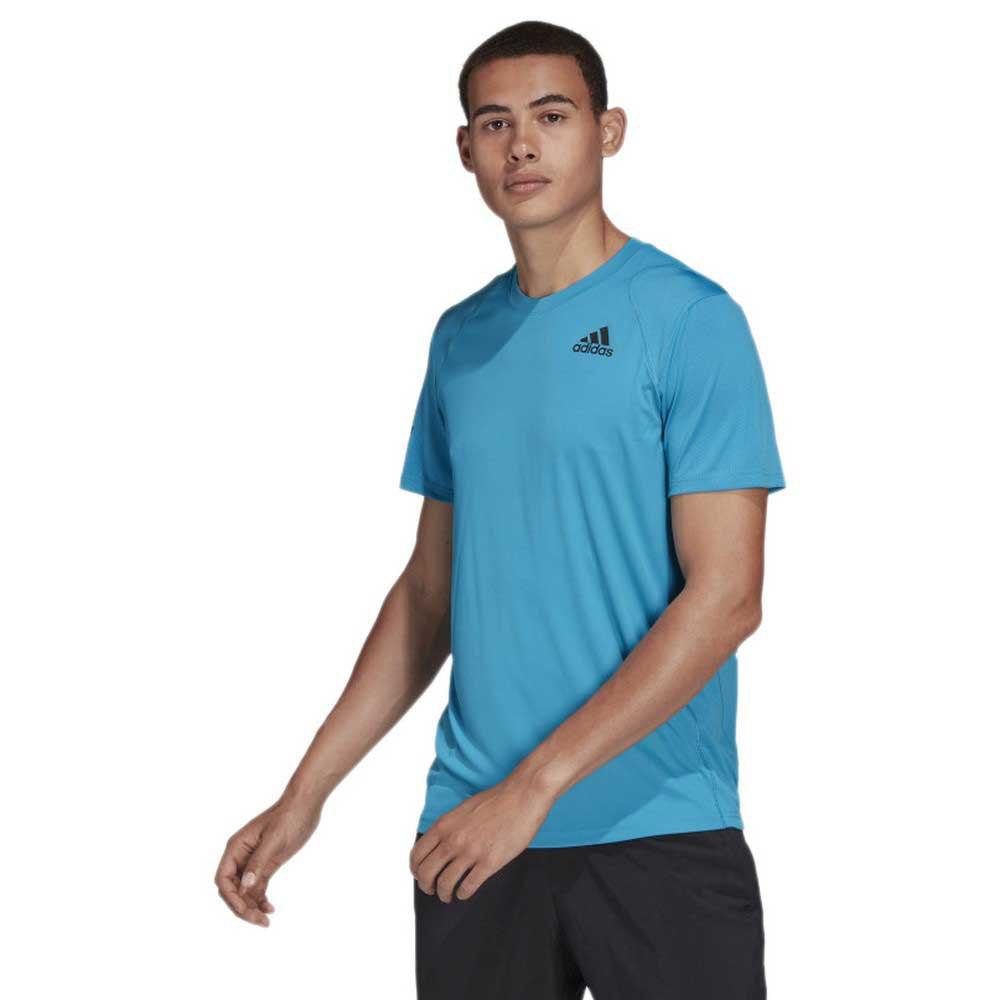 Adidas Badminton T-shirt Manche Courte Club 3 Stripes M Sonic Aqua / Black