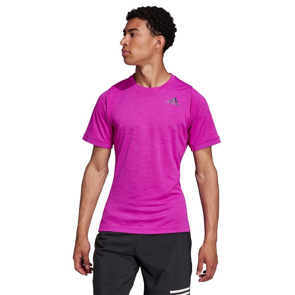 Adidas T-shirt Manche Courte Freelift M Sonic Fuchsia / Black