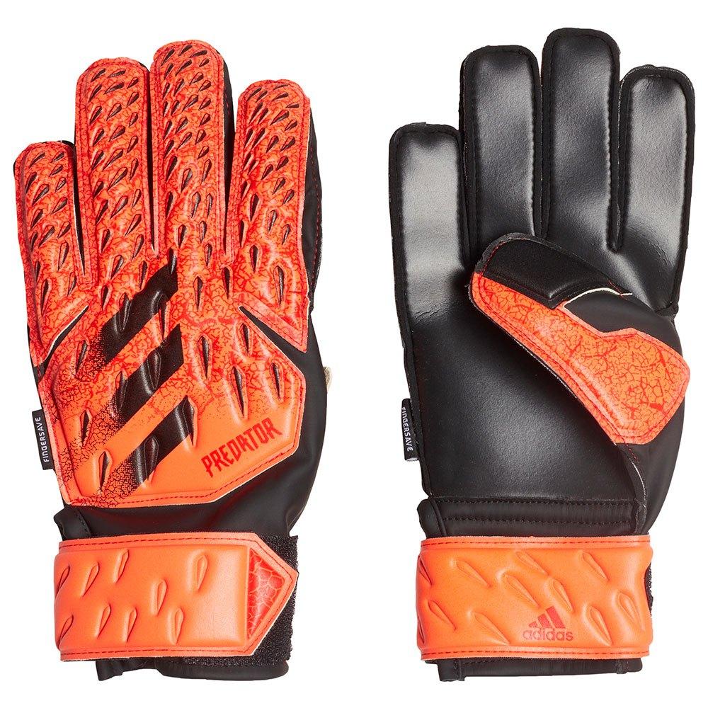 Adidas Gants Gardien Predator Match Fingersave Junior 5 Solar Red / Red / Black