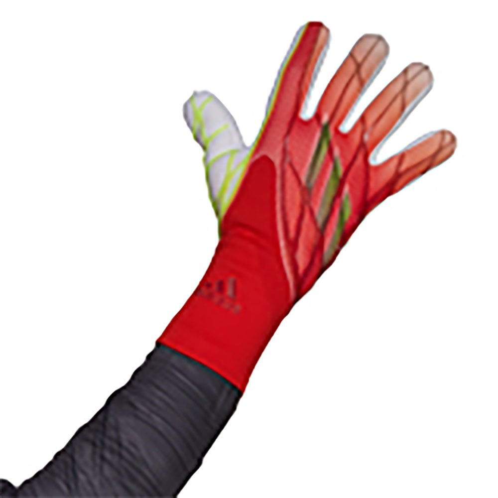 Adidas Gants Gardien X Pro 8 1/2 Solar Red / White / Red / Black / Solar Yellow