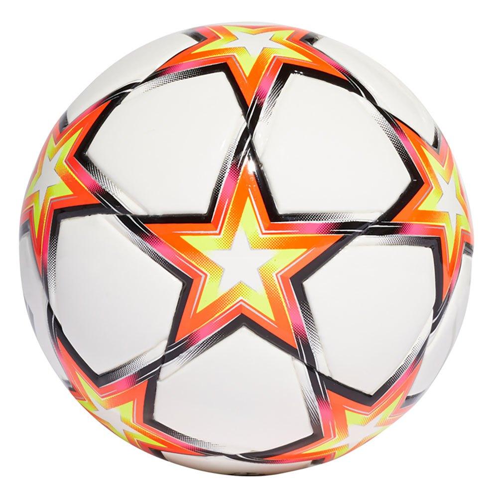 Adidas Ballon Football Ucl Mini 1 White / Solar Red / Solar Yellow / Black / Shock Pink F18 / Silver Metalicalic / Iron Metalicalic