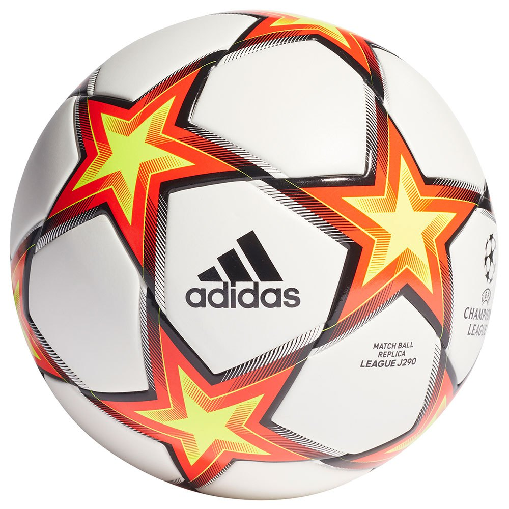Adidas Ballon Football Ucl League J290 5 White / Solar Red / Solar Yellow / Black
