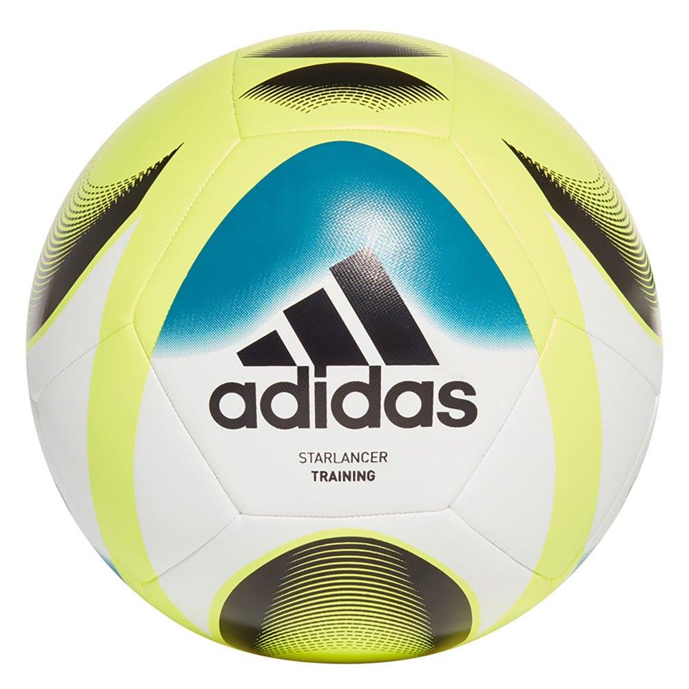 Adidas Ballon Football Starlancer Training 3 White / Team Solar Yellow / Active Teal / Black