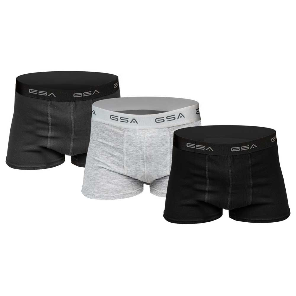 Gsa Boxer Supercotton 3 Unités M Black / Charcoal / Grey Melange