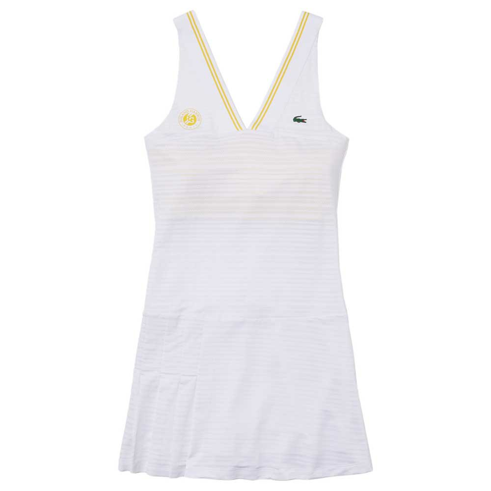 Lacoste Robe Élastique Sport French Édition Open 42 White / Pineapple