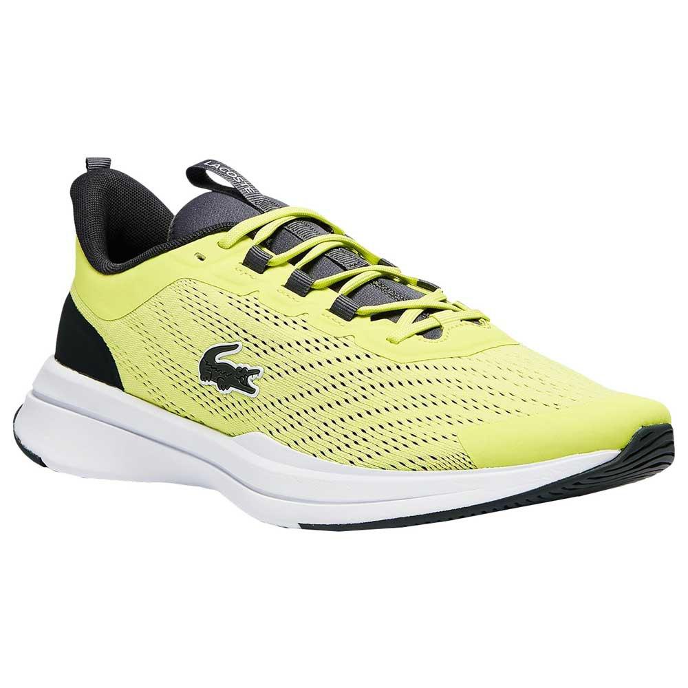 Lacoste Baskets Textile Run Spin EU 41 Light Yellow / White