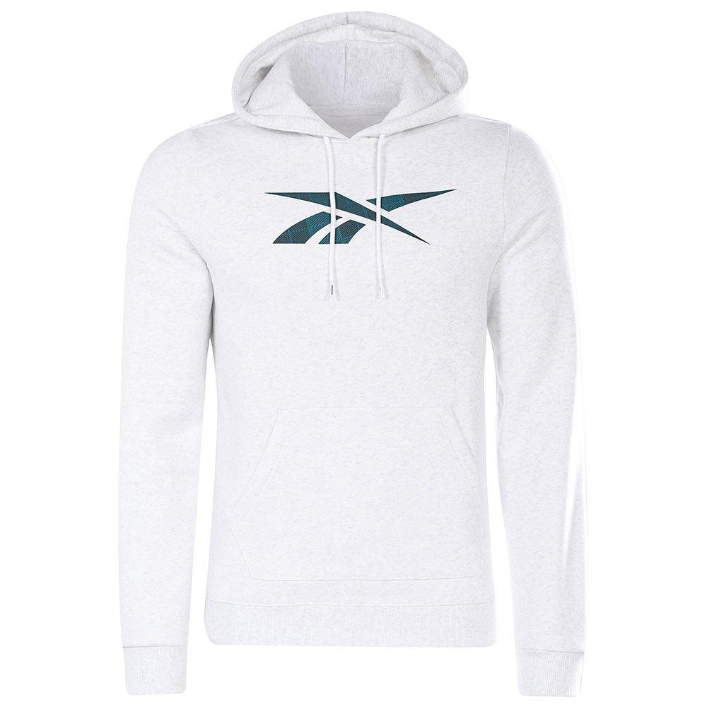 Reebok Sweatshirt Holiday Fleece Over The Head S White Melange