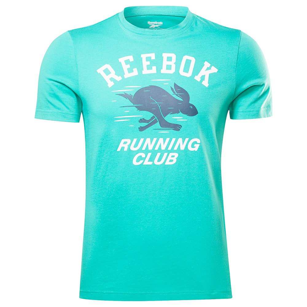 Reebok T-shirt Manche Courte Running Novelty L Future Teal