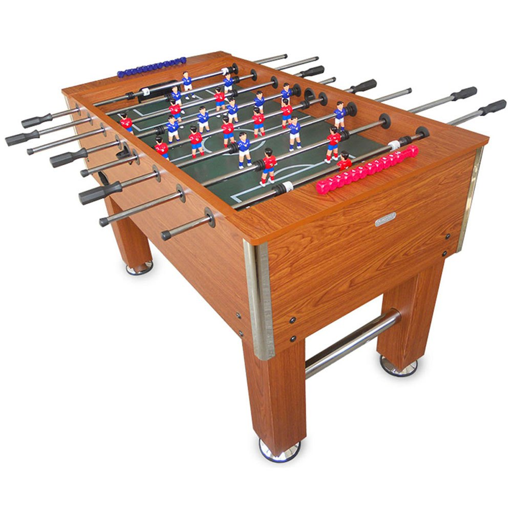 Devessport Table Baby Foot Professionnel Salon Avec Joueurs Pieds Ouverts +14 Years Brown