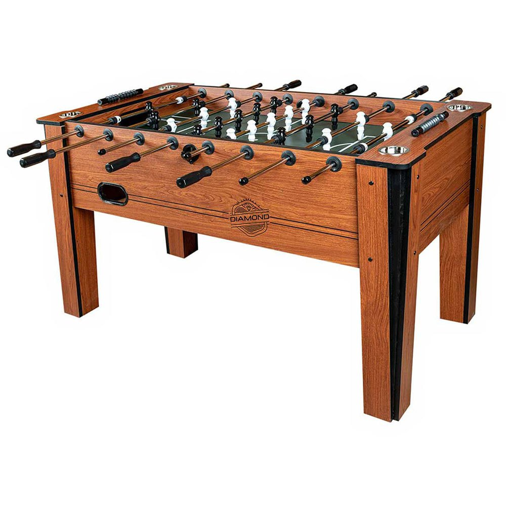 Devessport Table De Table Baby Foot Diamond Classic Avec Joueurs Pieds Ouverts +14 Years Brown / Green