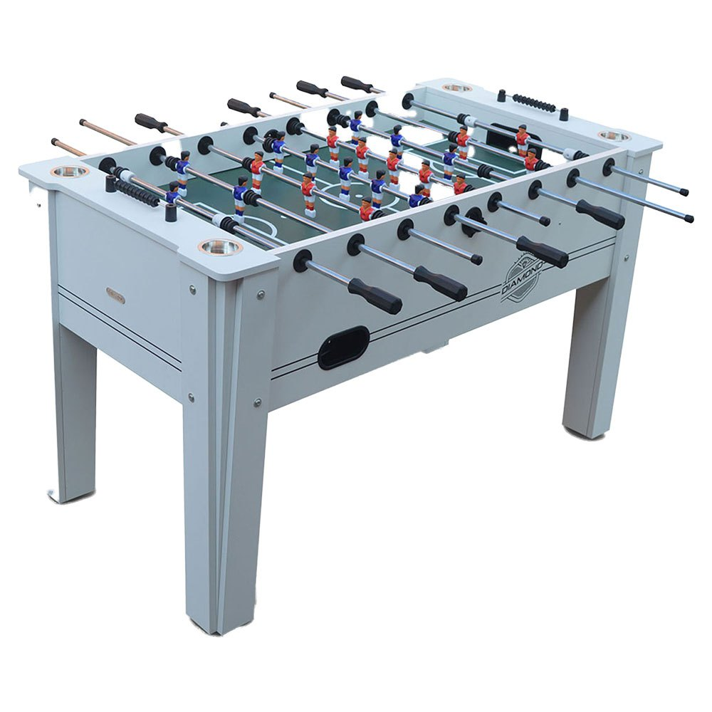 Devessport Table Baby Foot Diamond Avec Joueurs Classiques +14 Years White