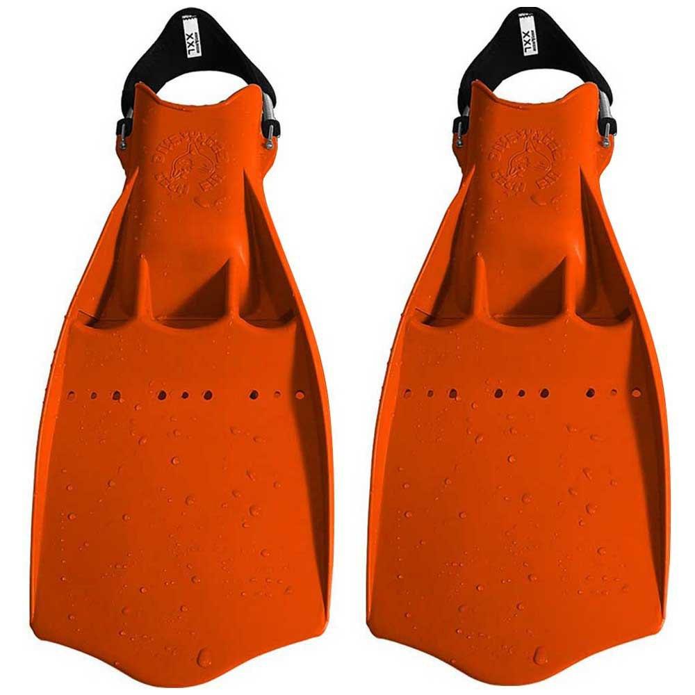 Dive System Tech Taucherflossen EU 42-44 Orange Einstellbare Flossen Tech Taucherflossen