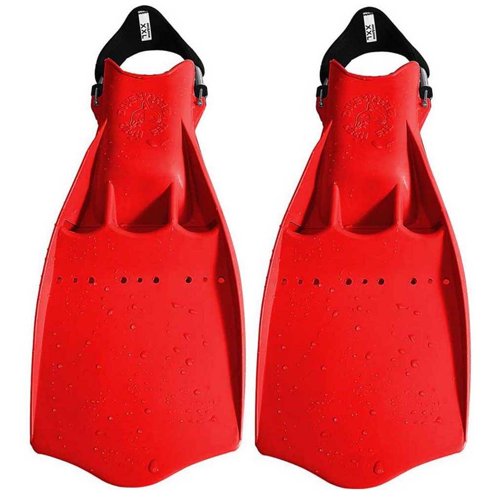 Dive System Tech Taucherflossen EU 42-44 Red Einstellbare Flossen Tech Taucherflossen