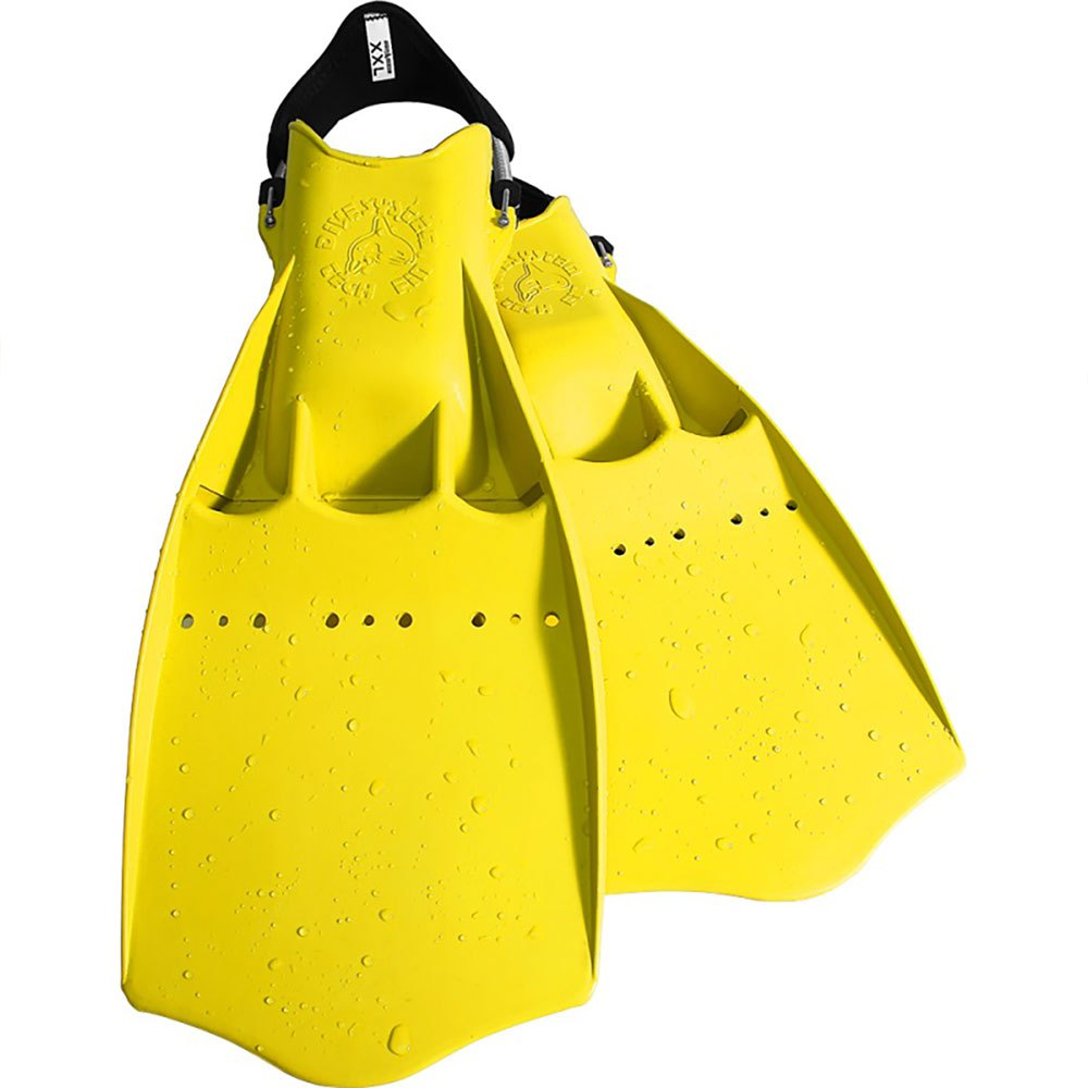 Dive System Tech Taucherflossen EU 42-44 Yellow Einstellbare Flossen Tech Taucherflossen